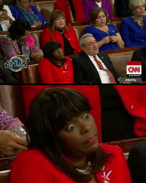 I love watching the audience at the State of the Union