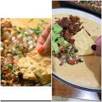 I made the Chorizo Queso Dip I saw on rgifrecipes today and it came ot amaaazing