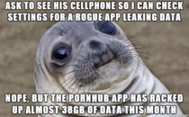 I manage our company cellphones Had to investigate an employees high usage and did not expect this
