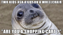 I mean the guy was waiting right by the shopping carts and we even exchanged looks after this happened