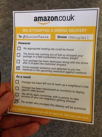 I missed an Amazon drone delivery
