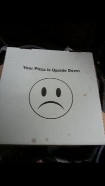I noticed this silly pizza box bottom when I took out the trash this morning