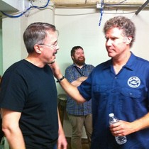I photobombed Vince Gilligan and Will Ferrell at the Austin Film Festival last week