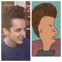I posted a pic earlier calling my lil bro Kramer jr A redditor said he looked like Butthead Im laughing way harder now