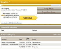 I pre-ordered the PS I live in Kansas This is what I saw on the shipping tracker