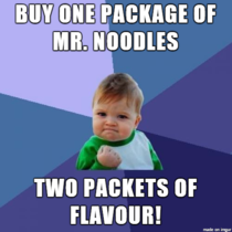 I probably shouldnt have got so excited considering Im eating mrnoodles