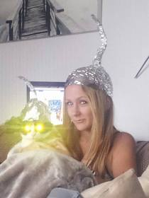I put a tin foil hat on my cat and this is what happened