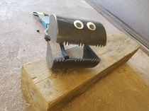 I put googly eyes on my pooper scooper so I can chase the dogs around the yard with it saying give me your poopy