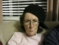 I put the hat on her and told her to look mad Grandma Betty the OG