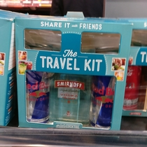 I saw the most extreme travel kit at the airport today
