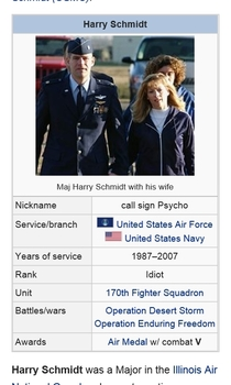I saw the TIL about the Major that dropped a  lb missile on a Canadian battalion and refuses to apologize for it I think someone changed his rank on Wikipedia