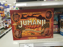 I saw this at Target they only had one nice try Jumanji but the last thing I wanted is to get stuck in the jungle with a bunch of my lazy friends