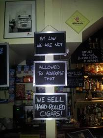 I saw this clever sign in a pub in Dublin Ireland