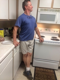 I saw your classic white dad attire post then looked across the kitchen