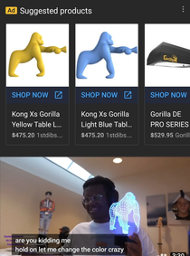 I searched Gorilla Lamp ONE fucking time