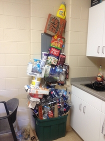 I see your College Jenga and raise you mine