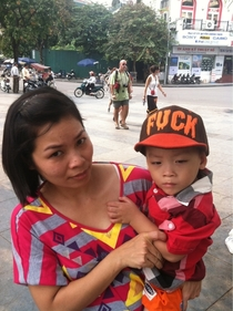 I spotted this kid in Vietnam today