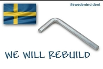 I stand with Sweden in these last and most difficult times