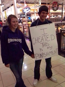 I suppose shes oblivious to the fact that she looks stupider than he does