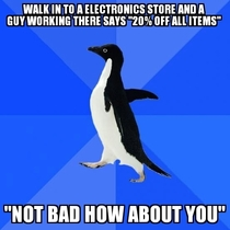 I then left the store a minute after that