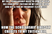 I think I encountered the ultimate first world problem today while I was paying my tuition