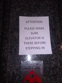 I think Ill take the stairs