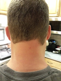 I think my barber had a few cocktails before shaving my neckline