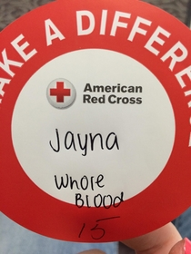 I think the Red Cross just slut-shamed me