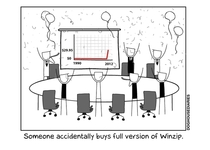 I think this is about right at the Winzip offices