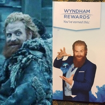 I think Tormund the wildling savage is a magician on my hotel key