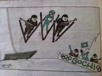 I thought that this Olympic cartoon in the newspaper today was pretty funny