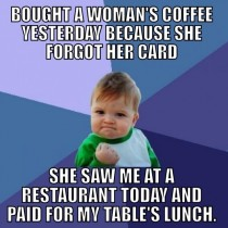 I told her to just pay it forward someday