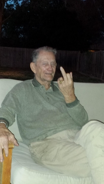 I told my grandad that everyones on the internet He said In that case take my picture and tell Charlie Jacobs I said fuck you