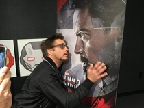 I want someone to look at me the way Robert Downey Jr looks at Tony Stark