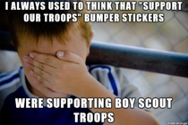 I was always shocked at the amount of support the Boy Scouts had
