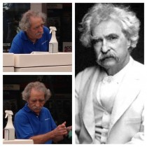 I was at my local shopping mall whenFUCKING MARK TWAIN