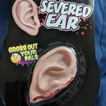 I was born with out an ear So for Christmas my roommates got me this