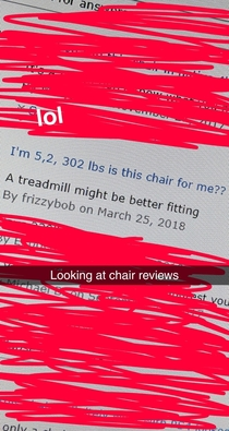 I was browsing Amazon for a new chair and I found this comment