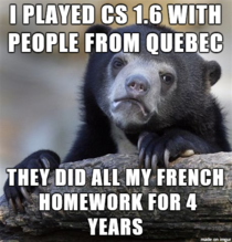 I was in the French  Honors class my senior year