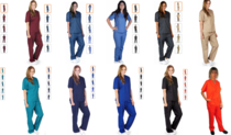 I was on Amazon looking for scrubs when I noticed they used a unique model for the orange set of scrubs