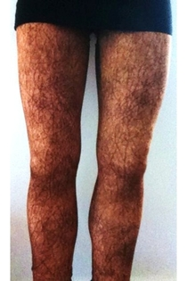 I was online shopping and came across these womens leggings All I see is hairy legs