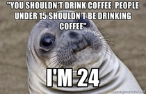 I was ordering coffee when the guy ordering next to me says this to me