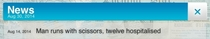 I was playing pandemic and I noticed this in the news bar