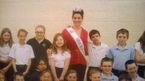 I was pretty smooth when Ms Illinois came to visit my th grade class
