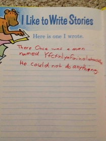 I was quite the literary artist at age