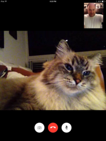 I was slightly surprised to receive an incoming FaceTime from my own laptop