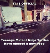 I wasnt aware that the TMNT clan elect to a higher power