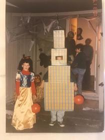 I went as a building for Halloween at age
