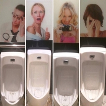 I went into a bathroom in Seoul South Korea and was greeted by these lovely ladies My personal favourite is the Doctor trying to find my micropenis