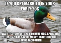 I wish all my young married friends took this advice